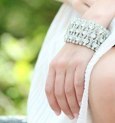 Geneve Vintage Chunky Crystal Bracelet