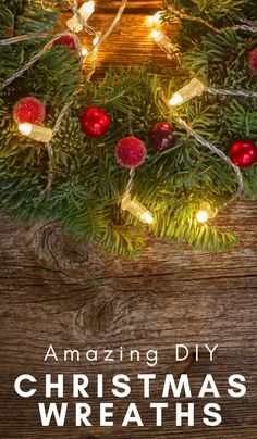 One of my favorite parts of Christmas is the Christmas wreath. Here are some great DIY Christmas Wreath ideas for this year! Holiday Fun, Christmas Crafts, Christmas Decorations, Holiday Decor, Christmas Recipes, White Christmas, Christmas Ideas, Christmas Foods, Diy Wreath