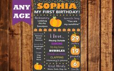 Pumpkin Birthday Chalkboard