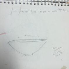 sketch #5 Thrown bowl