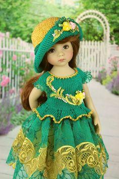 """Нарядное платье. """"Малахит"""" Куклы Дианы Эффнер. / Одежда для кукол / Шопик. Продать купить куклу / Бэйбики. Куклы фото. Одежда для кукол"""