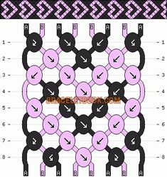 Normal Friendship Bracelet Pattern #150 - BraceletBook.com
