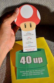 Mario Bros invite