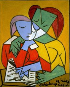Pablo Picasso (Spanish, 1881-1973). Two Girls Reading, 1934. The University of Michigan Museum of Art, Michigan. Gift of the Carey Walker Foundation, 1994. http://www.umma.umich.edu