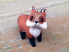 Fox : Handmade miniature polymère argile animale la figure
