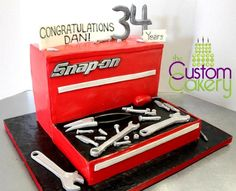 Snap-on Toolbox Retirement Cake - Cake by Stephanie