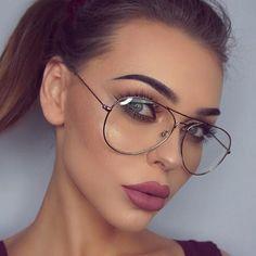 Latest Aviation Alloy Metal Frame Sunglasses Classic Optics Eyeglasses Transparent Clear Lens Women Men Eye glasses Optical