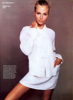 ☆ Bridget Hall | Photography by Steven Meisel | Vogue Magazine US | April 1994 ☆