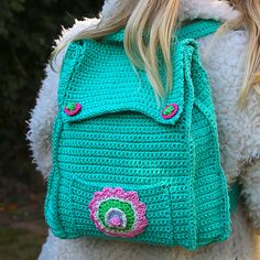 Crochet Kid's Backpack with Free Pattern                                                                                                                                                                                 More                                                                                                                                                                                 More