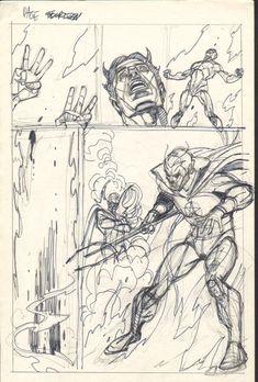 Gil Kane  - Defenders Giant Size #2 pg 14 layouts Comic Art