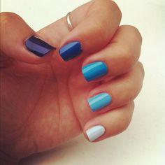 Ombre Nails Blue