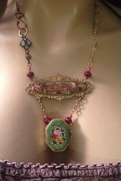 Steampunk Antique Victorian assemblage locket by Indigentdesign