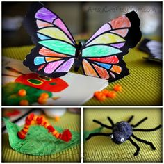 The very Hungry Caterpillar , the very busy spider craft #EricCarle #Pipecleaner #styrofoam