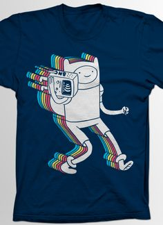 iheartjlp (AKA Jerrod Landon Porter) has combined Adventure Time's Finn and a Threadless classic, Funkalicious by Christopher Golebiowski, to create this awesome Adveture Time, Land Of Ooo, Finn The Human, Bravest Warriors, Jake The Dogs, Adventure Time Finn, Studio Ghibli, Steven Universe, Marceline