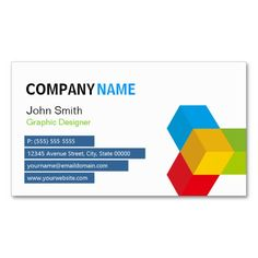Colorful 3D Cube Logo - Creative and Unique Business Card Templates