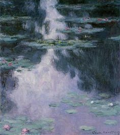Water Lilies (Nympheas) Completion Date: 1907 Style: Impressionism Series: Water Lilies Genre: flower painting Technique: oil Material: canvas Dimensions: 81.1 x 92.1 cm Gallery: Museum of Fine Arts, Houston, TX, USA