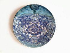 Sieh dir dieses Produkt an in meinem Etsy-Shop https://www.etsy.com/de/listing/526801338/modern-wand-teller-meer-fantasy-keramik