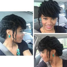 Kinky twist hairstyles come in handy and offer us the ability to not only display how gorgeous our hair is, but to add extensions if we please. Braided Hairstyles Updo, Lemonade Braids Hairstyles, Flat Twist Hairstyles, African Braids Hairstyles, Updo Hairstyle, Braided Updo, Model Hairstyles, Stylish Hairstyles, Long Hairstyles
