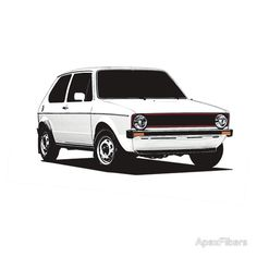 view' T-Shirt by ApexFibers Volkswagen Golf Mk1, Vw Mk1, Auto Motor, Motor Car, Most Popular Cars, Best T Shirt Designs, Car Posters, Car In The World, At Home Gym