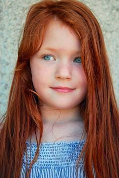 Sweet little blue-eyed redhead!                                                                                                                                                                                 More