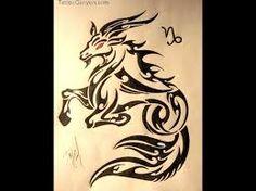 Brilliant Tribal Capricorn Tattoo Stencil With Red Eyes Capricorn Sign Tattoo, Capricorn Art, Zodiac Sign Tattoos, Zodiac Signs, Capricorn Rising, Future Tattoos, Tattoos For Guys, Capricorn Images, Elefante Tribal