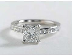 1.63 Carat Diamond Princess Cut Channel Set Diamond Engagement Ring | Blue Nile Engagement Rings