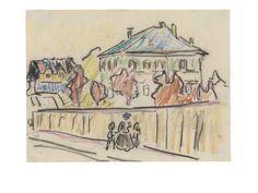 Ernst Ludwig Kirchner, 'Kleines Palais in Dresden (Villa in Dresden)', ca. 1909