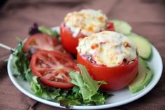 Tuna Stuffed Tomato. Oh my this looks good!