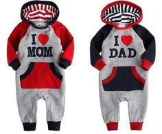 i love mom and dad outfit! My girl will just have to wear a red bow in her head!