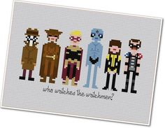 Pixel People  The Watchmen  PDF Crossstitch by weelittlestitches, $6.00