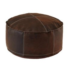 Sit in Style Leather Pouf in Poufs & Floor Cushions | The Land of Nod