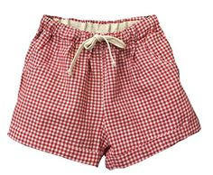Shawhuaa Womens Mini Check Shorts Drawstring Sports Beach Hot Pants Red * Be sure to check out this awesome product.(This is an Amazon affiliate link)