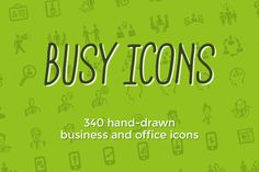 Check out Busy Icons: 340 business icons by Jolly Shop on Creative Market