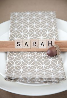 Scrabble Place Cards for Thanksgiving More