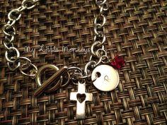 Custom Personalized Charm Bracelet - Hand Stamped Jewelry