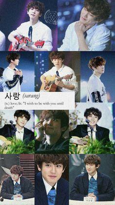 Park Chanyeol Exo, Sehun, Exo Lockscreen, Wallpaper Lockscreen, Exo Group, Exo Memes, Chanbaek, Colorful Wallpaper, Playing Guitar