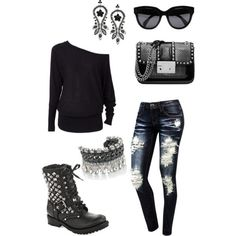 Rocker chic.. oh man, I need those shoes!