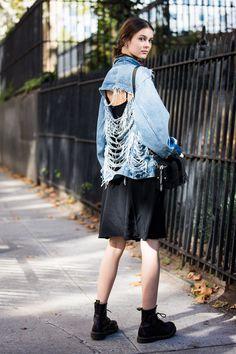 denim jacket ripped boots dr martens New York fashion week september 2015 settembreNYFW_SS2016_day5_sandrasemburg-20150914-2247