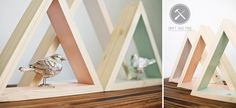 Pinned Image Triangle Shelf, Funky Furniture, Solid Pine, Pin Image, It Is Finished, Shelves, Wood, Home Decor, Shelving