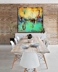 Large Abstract Aqua Green and Cream, teal Abstract Painting, Modern Art, Gold accents wall art, Painting on Canvas Contemporary Wall Art #SQ017