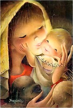 Jesus is what Christmas is all about Vintage Christmas Cards, Christmas Art, Vintage Cards, Vintage Images, Xmas, Mother Mary, Mother And Child, Clipart Noel, Illustrator