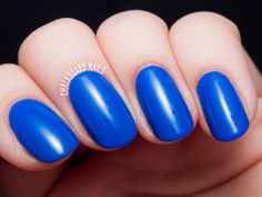 Nailbox SS'14 Trendbox Curated by All Lacquered Up  JINsoon - Cool Blue is an absolutely on-trend cobalt blue. This is my first experience with JINsoon polishes and I have to say I'm enamored. This blue beauty has me wanting more! I used two coats for the swatch below, and the formula was just divine. Perfectly smooth and buttery.