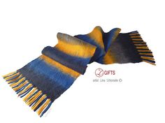 CHRISTMAS SALE -25% OFF - Gift for man - Hand nuno felted merino wool scarf for man