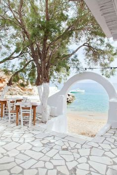 THE TRAVEL FILES: BEACH HOUSE ON ANTI PAROS, Greece. Just looking at this is a dream vacation for your eyes.