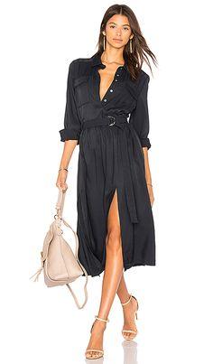 2cdbbb273d15 Shop for FRAME Denim Soft Safari Dress in Navy at REVOLVE. Free 2-3