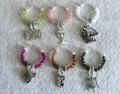 Wine Glass Charm Wine Glass Marker Party by uniquelyyours2010