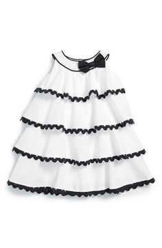 Darling Details ♡~ Rick Rack trimmed ruffles on Biscotti 'Rhumba' Sleeveless Tiered Dress (Baby Girls) available at Toddler Dress, Baby Dress, Toddler Girl, Baby Girls, Dress Girl, Little Dresses, Little Girl Dresses, Girls Dresses, Frocks For Girls