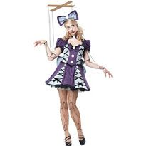 Adult Purple Marionette Costume - Party City
