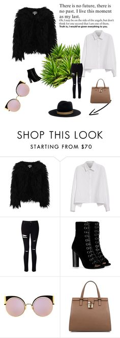 """""""casual outfit"""" by anisia-ionita on Polyvore featuring Dry Lake, Y's by Yohji Yamamoto, Miss Selfridge, Barbara Bui, Fendi, Dolce&Gabbana and Janessa Leone"""