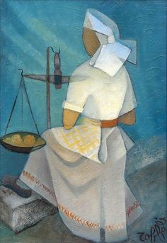 Femme yougoslave, 1975, by Louis Toffoli (1907-1999)